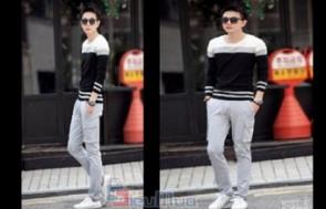 Áo thun tay dài sọc phối màu Hàn Quốc sành điệu giá chỉ có 100.000đ, chất liệu 100% cotton co giãn 4 chiều. Phong cách lãng tử, trẻ trung cho bạn nam.