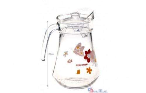 Bộ bình ly thủy tinh giá chỉ có 99.000đ. Sản phẩm chịu nhiệt cao, giữ nóng lâu. Kiểu dáng hoa văn sang trọng, bắt mắt là món quà ý nghĩa dành tặng người thân dịp cuối năm.