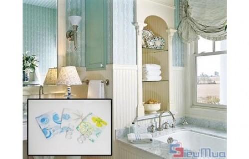 Màn treo nhà tắm giá chỉ có 70.000đ, sản phẩm rất tiện cho những không gian nhỏ, phòng trọ - chung cư chật hẹp. - 1 - Gia Dụng - Gia Dụng