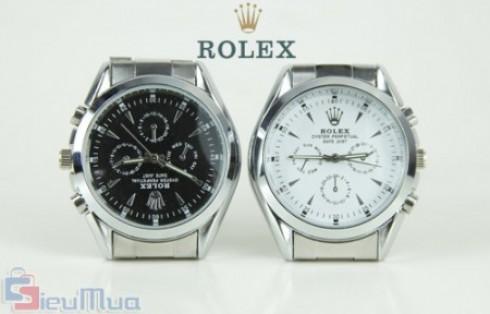 Đồng hồ nam dây thép Rolex chống vô nước giá chỉ có 189.000đ, chất liệu thép không gỉ. Thiết kế theo phong cách khỏe khoắn, trẻ trung cho nam giới. - 1 - Thời Trang Nam - Thời Trang Nam