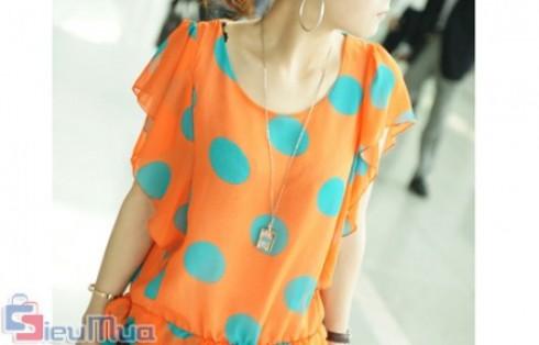 Áo chấm bi cánh tiên giá chỉ có 115.000đ, xu hướng thời trang cực hot hè 2012, mang đến nét duyên dáng cho bạn nữ. - 2 - Thời Trang Nữ - Thời Trang Nữ