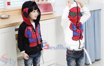 Áo khoác Spiderman cho bé yêu