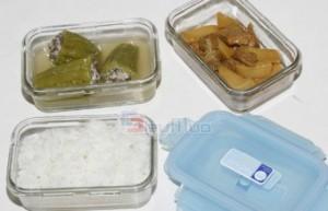 Bộ 3 hộp đựng thức ăn Glass&Lock 400 ml và túi giữ nhiệt giá chỉ có 173.000đ, thủy tinh trong suốt, không độc hại. Kiểu dáng gọn, nhẹ, bao đựng với hoa văn tinh tế tiện lợi và dễ dàng mang theo. - 2 - Gia Dụng - Gia Dụng
