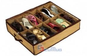 Túi vải đựng giày 12 ngăn giá chỉ có 65.000đ, chất liệu vải chắc chắn, thiết kế nhỏ gọn, giúp tiết kiệm tối đa diện tích căn phòng của bạn. - 1 - Gia Dụng - Gia Dụng