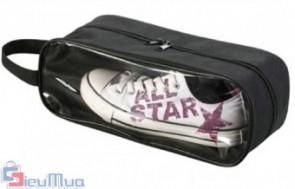 Combo 2 túi đựng giày dép có lưới thông hơi giá chỉ có 93.000đ. Làm từ chất liệu vải bố, nhựa polyme chống thấm nước, chắc, bền. Giúp bạn giữ cho giày, dép được để ngăn nắp trong vali. - 1 - Gia Dụng - Gia Dụng