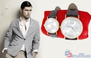 Đồng hồ cặp nam nữ Baishuns giá chỉ có 240.000đ. Khung đồng hồ bằng thép sang trọng kết hợp với dây da bóng. Thiết kế đầy cá tính, đậm chất thời trang, tinh tế, thể hiện sự dũng mãnh, quyết liệt.