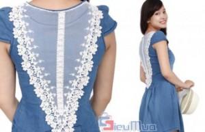 Đầm Demin phối ren giá chỉ có 149.000đ. Chất liệu denim có ưu điểm thoáng mát. Mang đến cho bạn nữ phong cách tươi trẻ, năng động và hiện đại.
