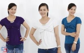 Áo thun đính đá ở cổ thời trang giá chỉ còn 89.000đ. Chất liệu vải thoáng mát, dễ thấm hút mồ hôi, thích hợp để mặc trong thời tiết nóng bức với phong cách tự do và phóng khoáng, là lựa chọn lý tưởng cho các bạn nữ yêu thích thời trang và sự trẻ trung.