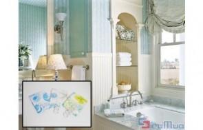 Màn treo nhà tắm giá chỉ có 70.000đ, sản phẩm rất tiện cho những không gian nhỏ, phòng trọ - chung cư chật hẹp.
