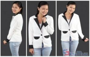 Áo vest viền đen tay giá chỉ có 165.000đ, kiểu áo tay dài mang đến cho bạn gái vẻ thanh lịch, nhưng vẫn sang trọng quyến rũ.