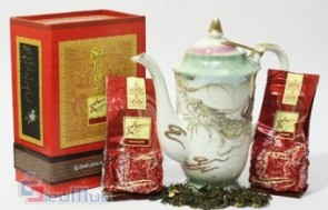 Hộp trà Shan tuyết cổ thụ giá chỉ có 97.000đ, kỹ thuật đóng gói hút chân không, đảm bảo tiêu chuẩn chất lượng cao nhất.