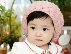Nón len hình bánh tiêu cho bé giữ ấm và tô...