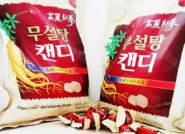 KẸO HỒNG SÂM KHÔNG ĐƯỜNG SUGAR FREE RED GINSENG CANDY!
