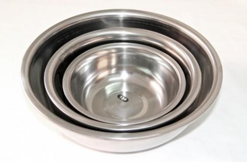 BỘ 3 THAU INOX ĐÁY SÂU:Sáng bóng cho gian bếp thêm sạch sẽ, hiện đại .