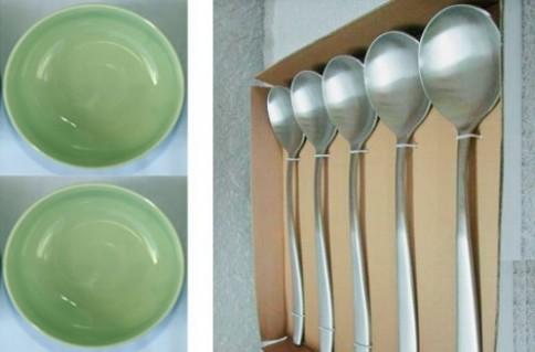 COMBO 5 CHÉN SỨ + 5 MUỖNG SHAP:Cho bữa ăn thêm ngon miệng hơn.