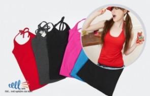 Combo bộ ba áo thun nữ gồm: áo ba lỗ, áo hai dây và áo yếm