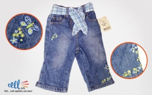 Quần jean, kaki đồng giá dành cho bé gái