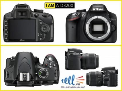 Máy chụp hình Nikon D3200 (Nikon AF-S DX NIKKOR 18-105mm F3.5-5.6 G VR) Lens Kit