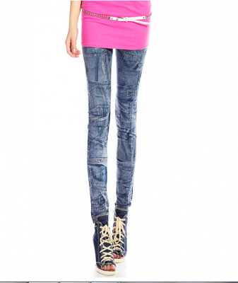 Titi Shop - Quan Legging gia jeans Titishop QDN05 (Xanh)