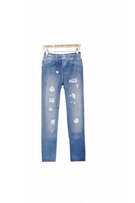 Titi Shop - Quan legging gia jeans Titishop QDN03 (Xanh)