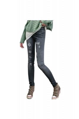 Titi Shop - Quan Legging gia jeans Titishop QDN03 (Den)