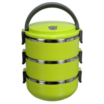 Titi Shop - Hop com giu nhiet 3 tang TITISHOP LUNCH BOX (Xanh la)