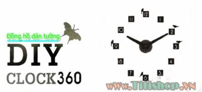 Titi Shop - Dong Ho Dan Tuong Diy Clock 360