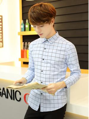 Titi Shop - Ao so mi nam CARO HAN QUOC HQ27