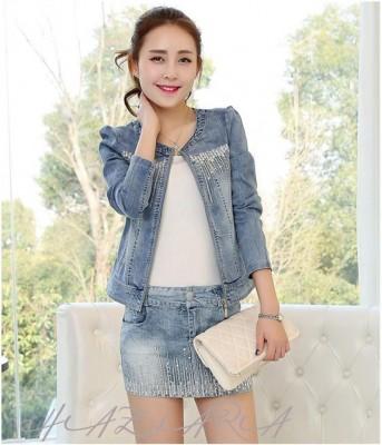 Titi Shop - Ao khoac jean nu NT11 Thoi trang