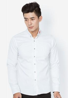 Titi Shop - Ao so mi nam theu hoa hong SM173 ( trang )
