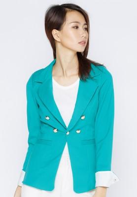 Titi Shop - Ao khoac vest phoi nut AKVN90 ( xanh la )