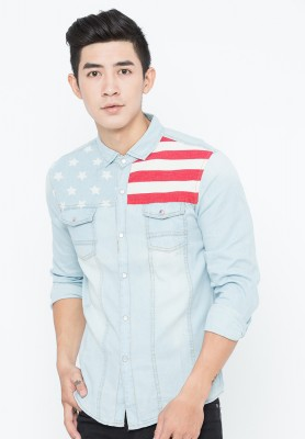Titi Shop - Ao so mi nam Denim Cao cap ADN6 ( XAM )