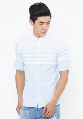 Titi Shop - Ao so mi nam Tay lung body SM306 ( xanh duong )