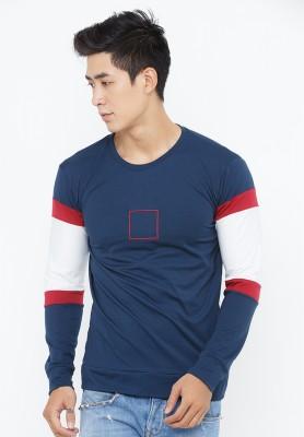 Titi Shop - Ao thun nam tay dai AT94 ( Xanh den)