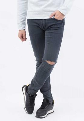 Titi Shop - Quan jeans nam Rach goi QJ105 ( Xam chuot )