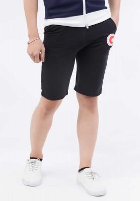 Titi Shop - Quan shorts mau den QS45 phoi chu C ( DEN )