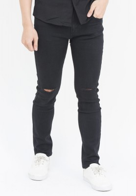 Titi Shop - Quan jeans Nam rách gói màu den QJ100 ( Den )
