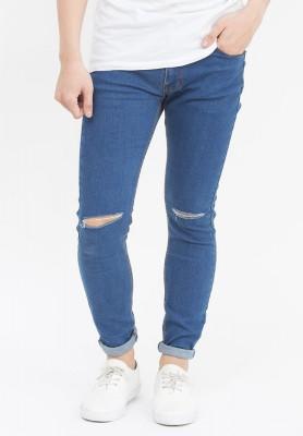 Titi Shop - Quan jeans Nam rách gói màu den QJ107 ( Xanh)