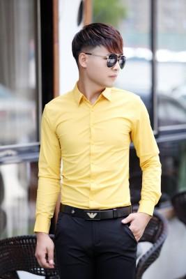 Titi Shop - Ao so mi tron Body SM370 KHONG NHAN ( Vang )