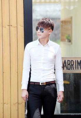 Titi Shop - Ao so mi tron Body SM372 KHONG NHAN ( Trang )
