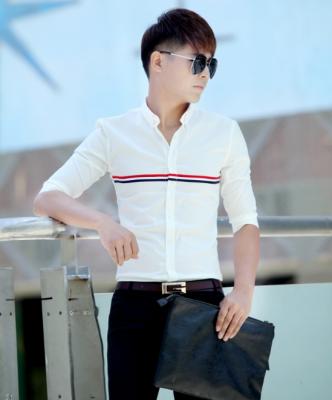 Titi Shop - Ao so mi tron Body SM380 KHONG NHAN (Trang )
