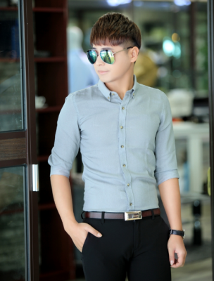 Titi Shop - Ao so mi tron Body SM387 Khong nhan