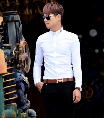 Titi Shop - Ao so mi tron Body SM389 theu Hoa hong ( trang )