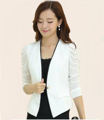 Titi Shop - Ao khoac vest nu Kaki AKVN49 Tay nhun ( trang)