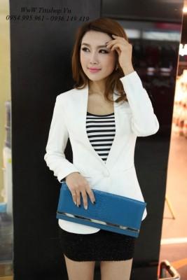 Titi Shop - Ao khoac vest ISU AKVN54 ( Trang ) Co lot