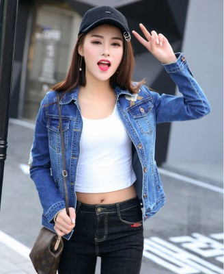 Titi Shop - Ao khoac jean nu Cao cap NT21 Nhap ( Xanh )
