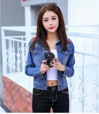 Titi Shop - Ao khoac jean nu Cao cap NT22 Nhap ( Xanh )
