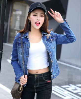 Titi Shop - Ao khoac jean nu Cao cap NT21 Nhap ( Xanh ) 9617