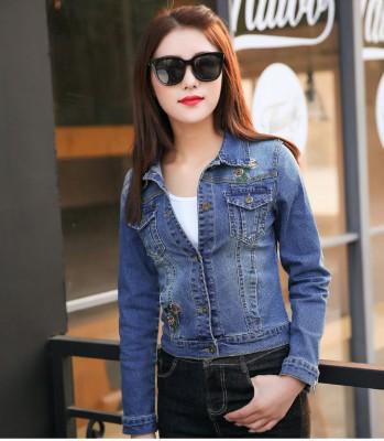 Titi Shop - Ao khoac jean nu Cao cap NT23 Nhap ( Xanh ) 9613