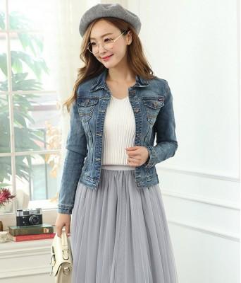 Titi Shop - Ao khoac jean nu Cao cap NT24 Nhap ( Xanh ) 8855